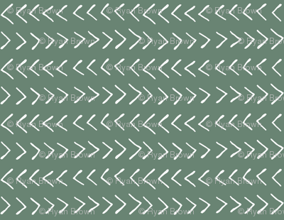 Arrows on Laurel Green // Small