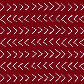 Arrows on Maroon // Small