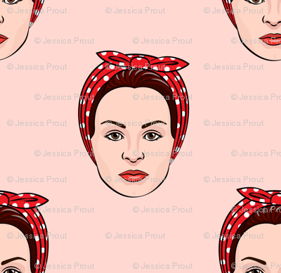 (small scale) Rosie the Riveter (pink)
