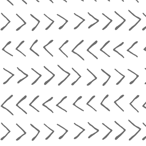 Grey Arrows // Large fabric by thinlinetextiles on Spoonflower - custom fabric
