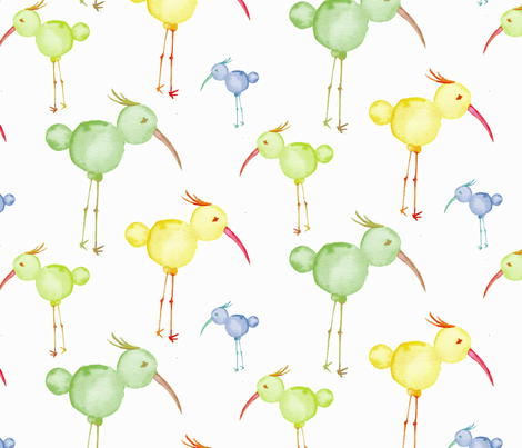 Birds on Heels fabric by lazuliprints on Spoonflower - custom fabric