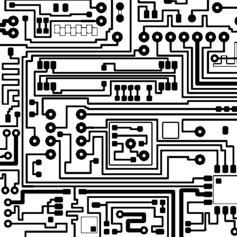 Circuit Board // Large fabric by thinlinetextiles on Spoonflower - custom fabric