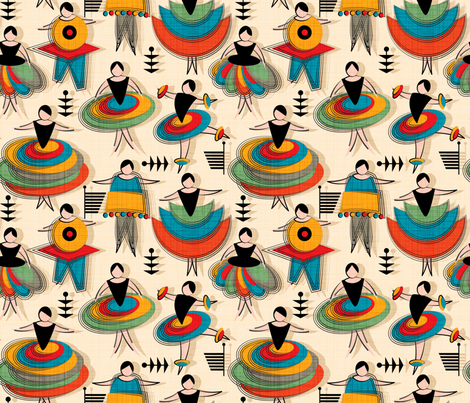 BauhausFantasyBallet fabric by leventetladiscorde on Spoonflower - custom fabric