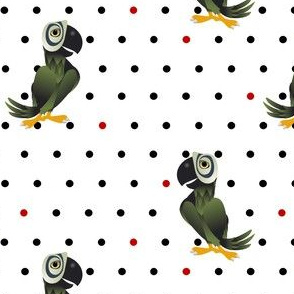 Parrot Polka Dots Small 03