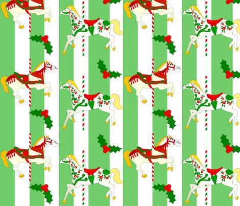 Christmas Carousel 04 fabric by lowa84 on Spoonflower - custom fabric