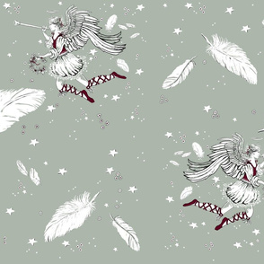 elegant xmas angels and feathers repeat1
