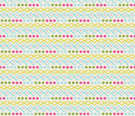pattern play SMALL 525 - lace garden essence spring cream fabric by drapestudio on Spoonflower - custom fabric