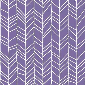 Violet Crazy Chevron Herringbone Hand Drawn Geometric Pattern GingerLous