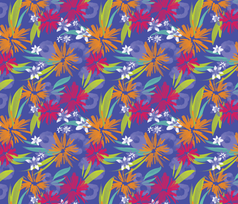 Mony Floral in Party Purple fabric by bluedesignhouse on Spoonflower - custom fabric