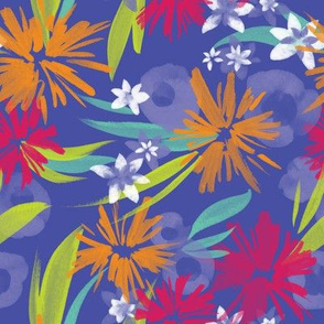 Mony Floral in Party Purple