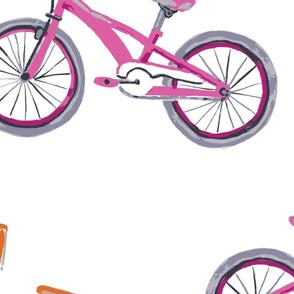 BikeWithSteamers_PinkOrange
