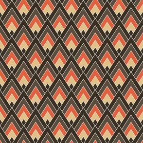 Orange & Brown Diamond Mountains