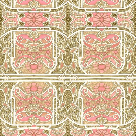 Heart-Flower Seranade fabric by edsel2084 on Spoonflower - custom fabric