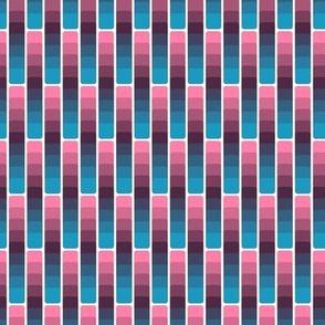 Funky stripes on white