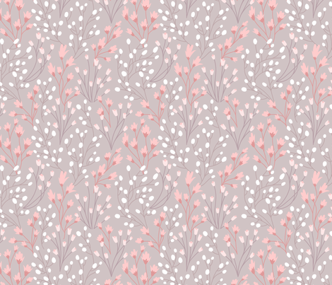 Silvie Floral in Rose fabric by bluedesignhouse on Spoonflower - custom fabric