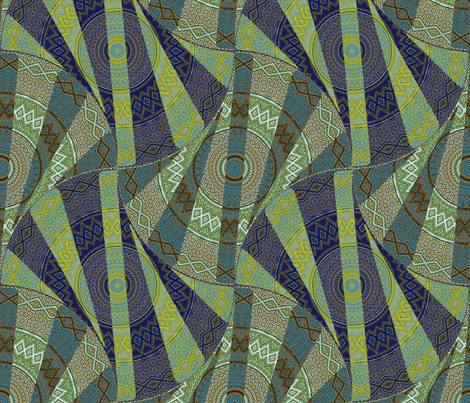 Medallion Twist - salon fabric by ormolu on Spoonflower - custom fabric