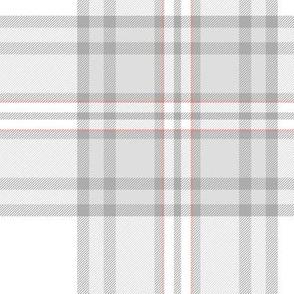 """Southdown tartan - 10"""" white"""