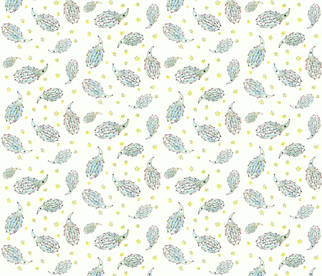 Hedgehog Dreams In Color fabric by rebeccagreenarts on Spoonflower - custom fabric