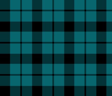 "Brown tartan, custom 6"" teal  fabric by weavingmajor on Spoonflower - custom fabric"