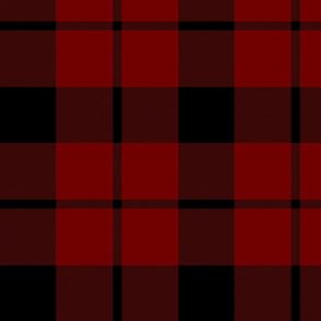 "Brown tartan, custom 10"" dark red"