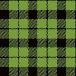 "Brown tartan, custom 3"" lime"