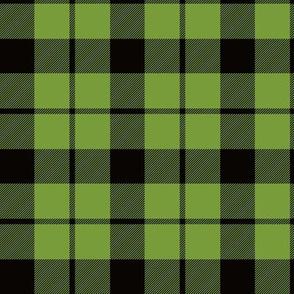 "Brown tartan, custom 3"" lime"