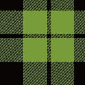 "Brown tartan, custom 7"" lime"