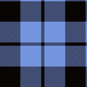"Brown tartan, custom 6"" light blue"
