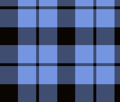"Brown tartan, custom 10"" light blue fabric by weavingmajor on Spoonflower - custom fabric"