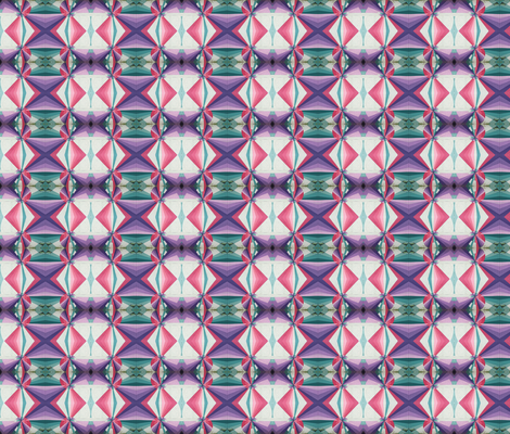 pastel circus x's & o's - small fabric by scrumblygirl on Spoonflower - custom fabric