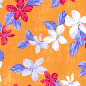 Leia Floral in Tangerine