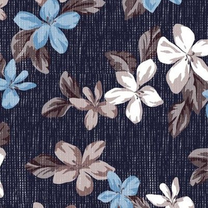Leia Floral in Navy