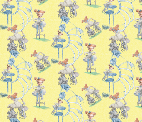 Rolling Along in Sunshine fabric by nancy_lee_moran_designs on Spoonflower - custom fabric