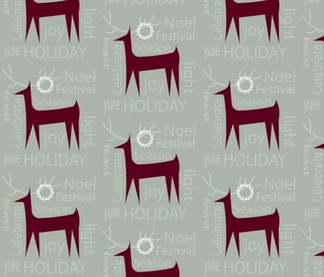 Reindeer fabric by julia_diane on Spoonflower - custom fabric