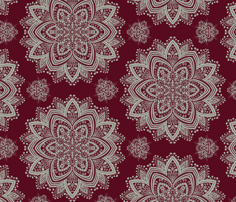 Mandala 2 fabric by helen_bne on Spoonflower - custom fabric