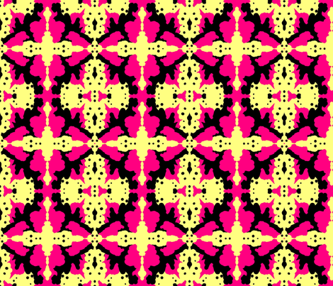 Kuangaza 2 In Pink Yellow & Black fabric by tabasamu_design on Spoonflower - custom fabric
