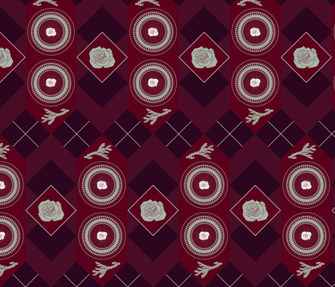 The Elegant Holiday fabric by dina's_natural_avenue on Spoonflower - custom fabric