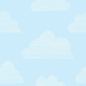 Stripy Clouds (baby blue)