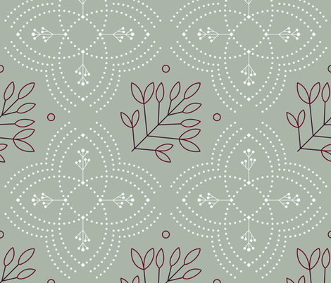Winter Diner Party fabric by ms_jekyll_and_ms_hyde on Spoonflower - custom fabric