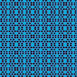 Kuangaza 3a  Dots In Blue &  Black