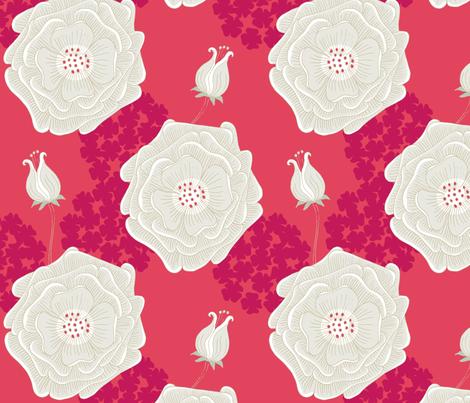 BigFlower_Paradise Pink fabric by minnacinnamon on Spoonflower - custom fabric