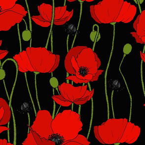 poppy repeat black - large