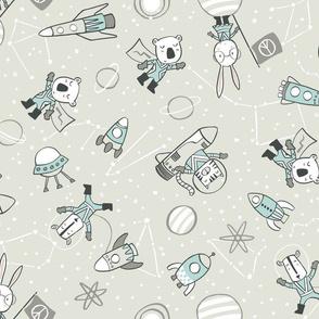 Retro Animals Cosmic  Voyage