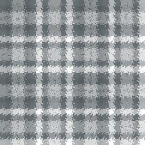 JP34 - Blue-Grey on White Jagged Plaid