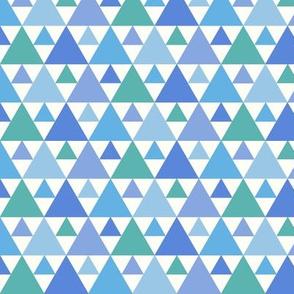 Triangles - blue and aqua