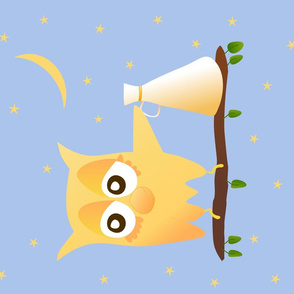 Noisy Owl Tea Towel Aac4eb Bleu Clair New Beak Moon Loud Hailer