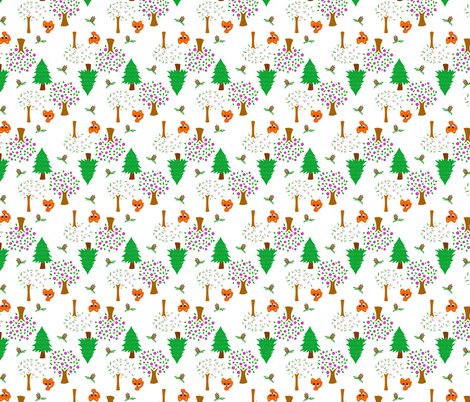 Forest Friends fabric by asianscandinavian on Spoonflower - custom fabric