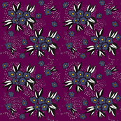 Purple Blossoms on Eggplant