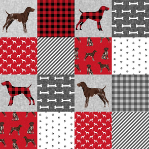german shorthair pointer pet quilt  a cheater wholecloth