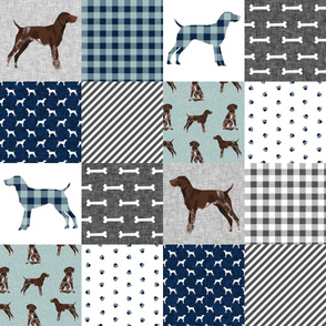 german shorthair pointer pet quilt  b cheater wholecloth